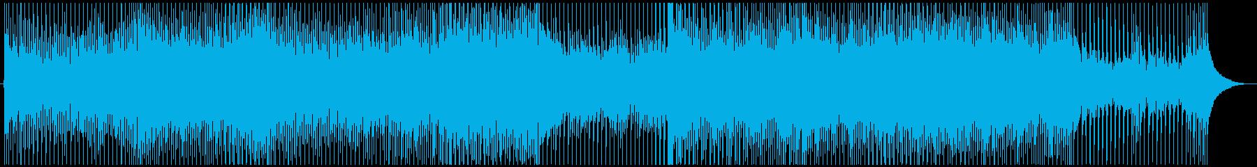 陽気でクールなトロピカルハウスの再生済みの波形