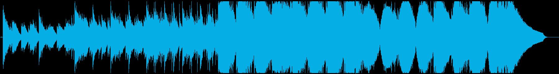 ファンタジーっぽい神秘的な曲の再生済みの波形