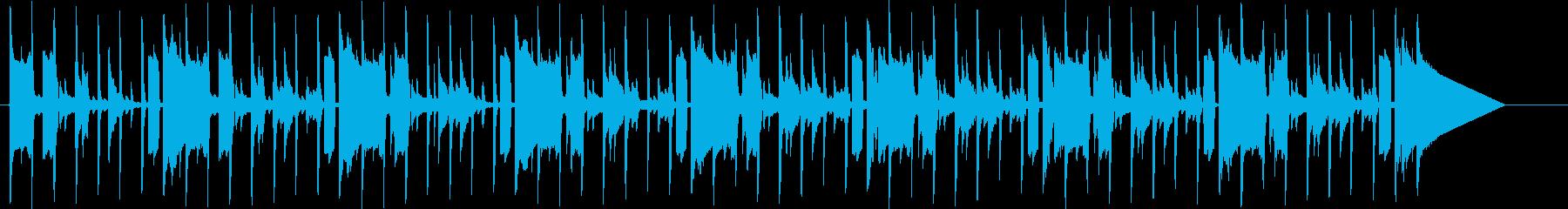 怪しげな雰囲気のBGMの再生済みの波形