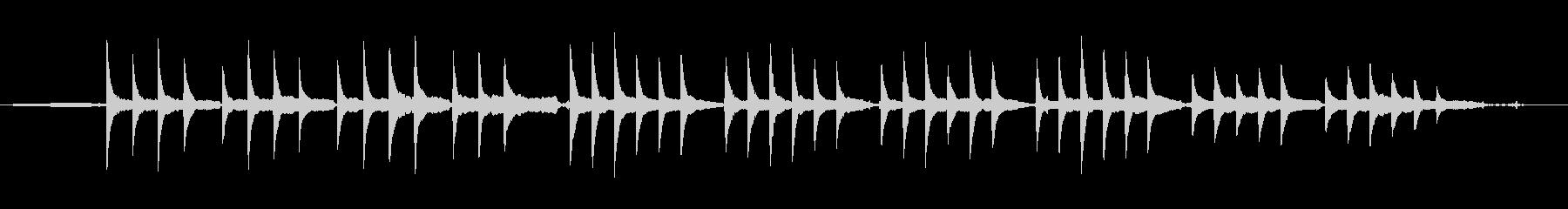 奇妙な和音で不穏感漂うサティのピアノ曲の未再生の波形
