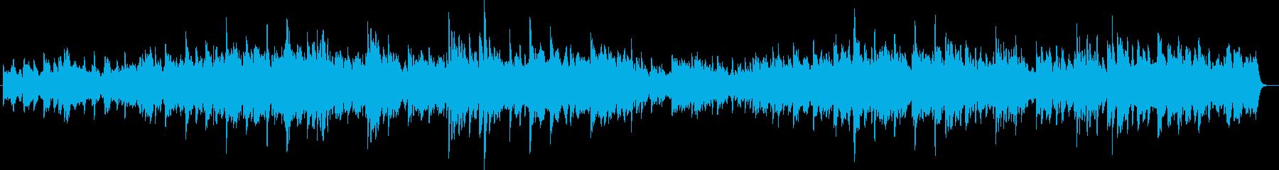 温かくて優しいピアノ曲の再生済みの波形