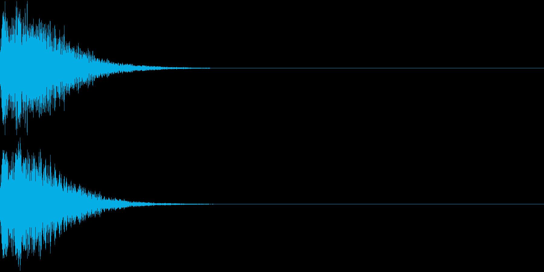 光る  輝く  キュピーン  キラーンJの再生済みの波形
