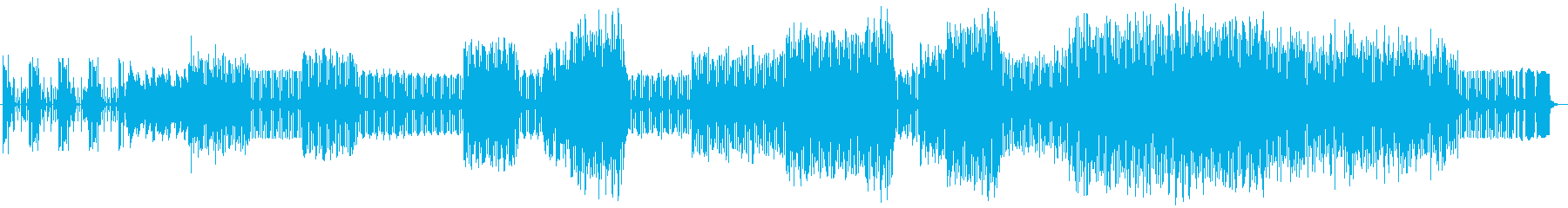 Jupitar-8の低音で延々七拍子の再生済みの波形