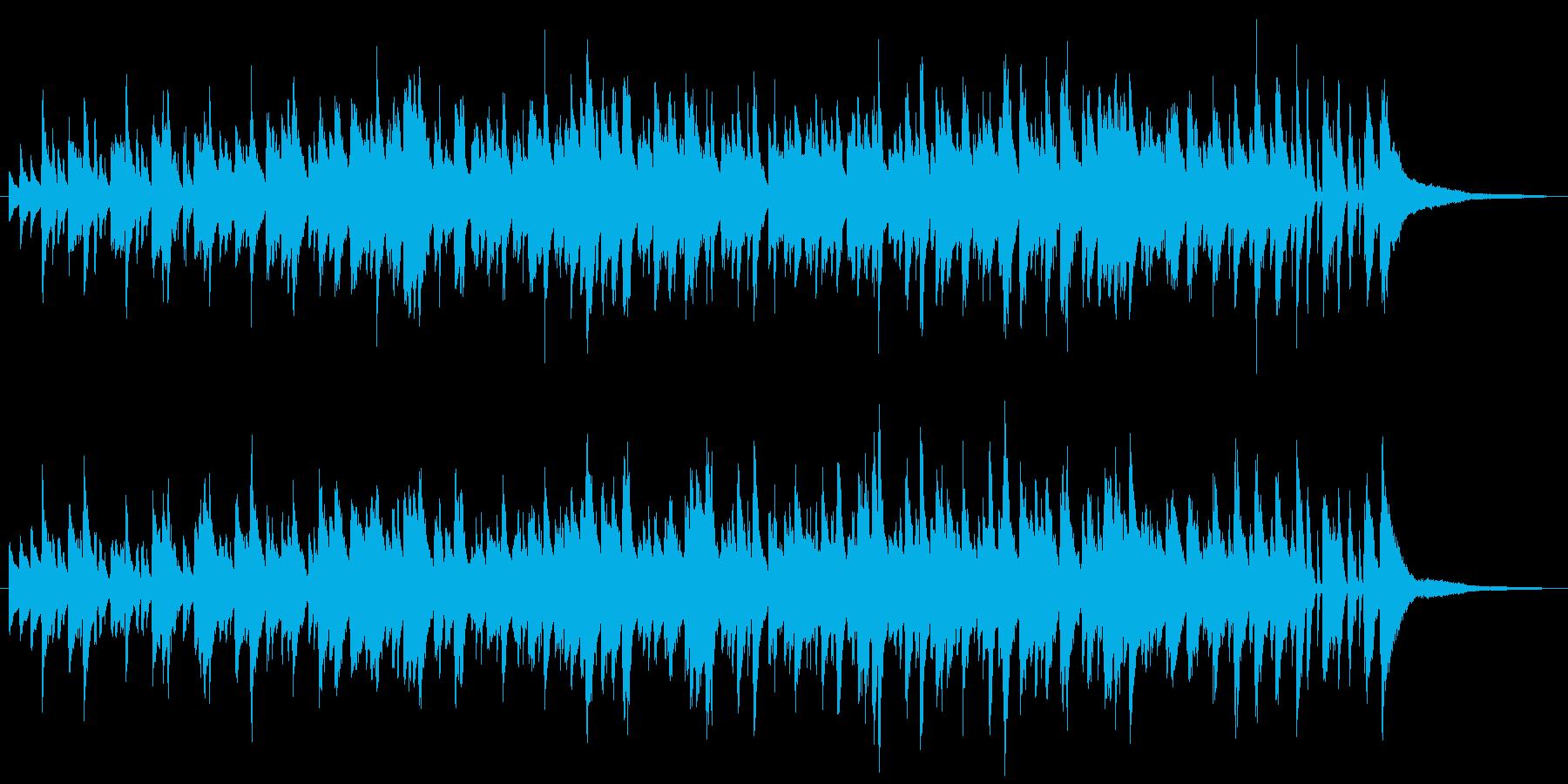 ジャズラウンジ風ボサノバ/ピアノトリオの再生済みの波形