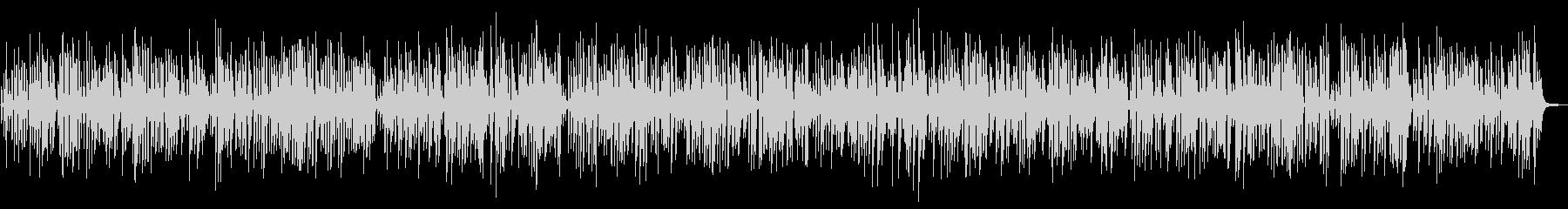 おしゃれ軽快クールなジャズピアノトリオの未再生の波形