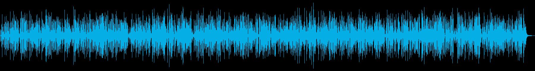 おしゃれ軽快クールなジャズピアノトリオの再生済みの波形