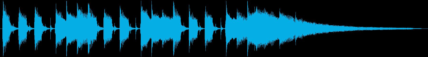 CM向け・明るいアコースティックギターの再生済みの波形