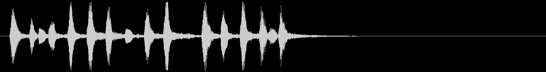 ほのぼの可愛い元気木管リコーダー重奏の未再生の波形