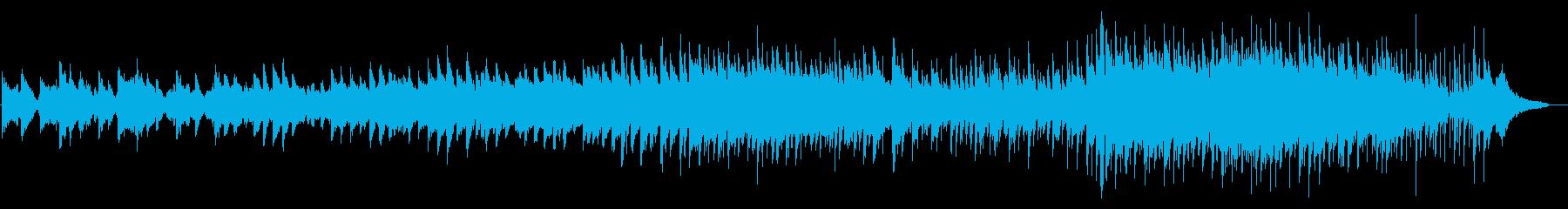 フルートとピアノが奏でるバラードの再生済みの波形
