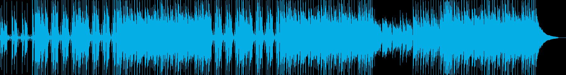 楽観的な感覚をもたらすポジティブな音楽の再生済みの波形