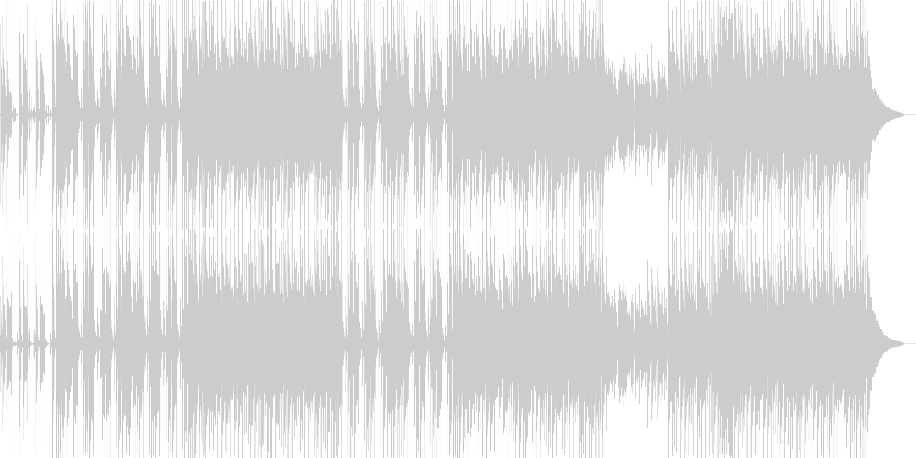 楽観的な感覚をもたらすポジティブな音楽の未再生の波形