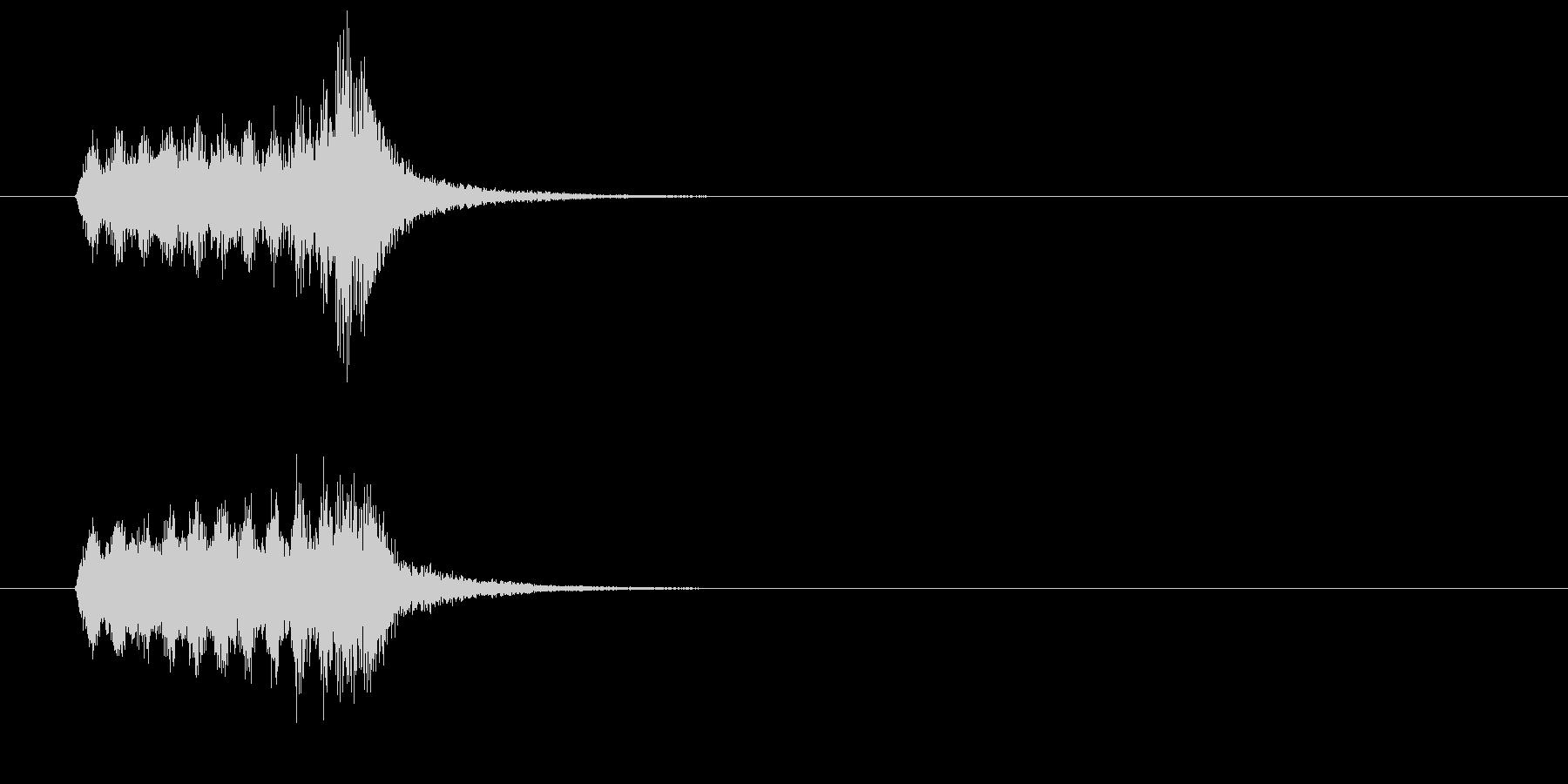 ジングル(オーケストレーション・タッチ)の未再生の波形