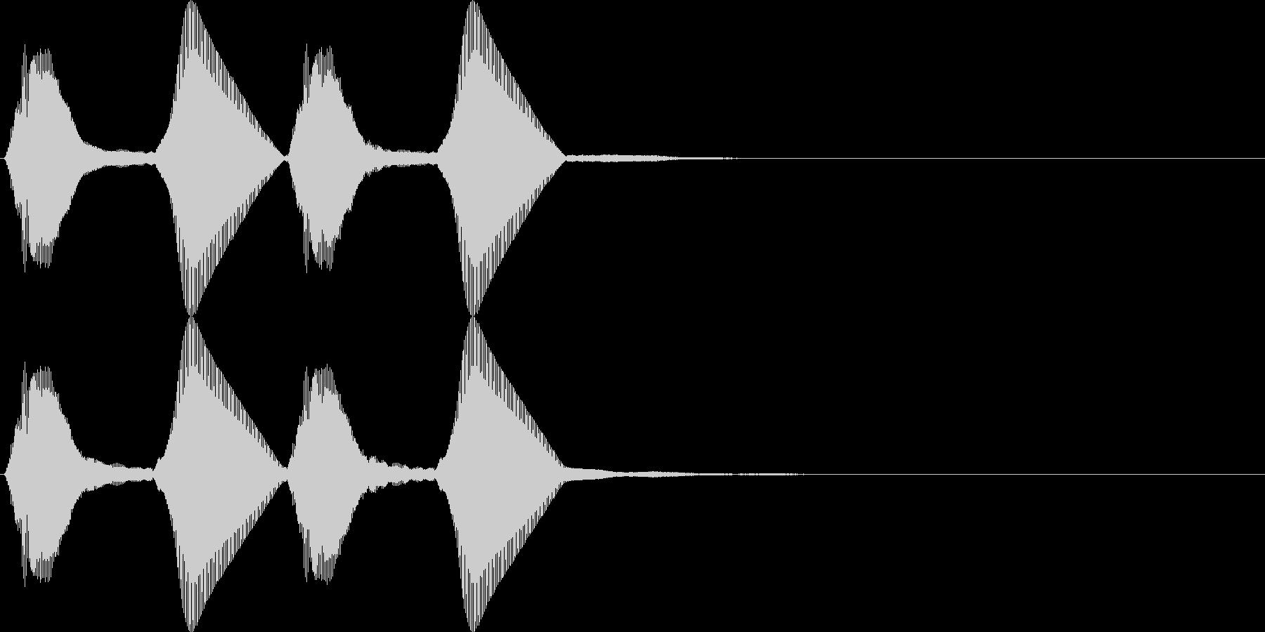 パフパフ。パフパフラッパD(高・2連発)の未再生の波形
