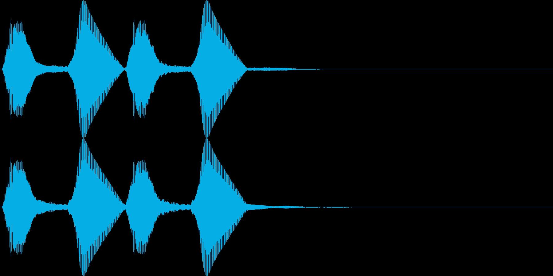 パフパフ。パフパフラッパD(高・2連発)の再生済みの波形