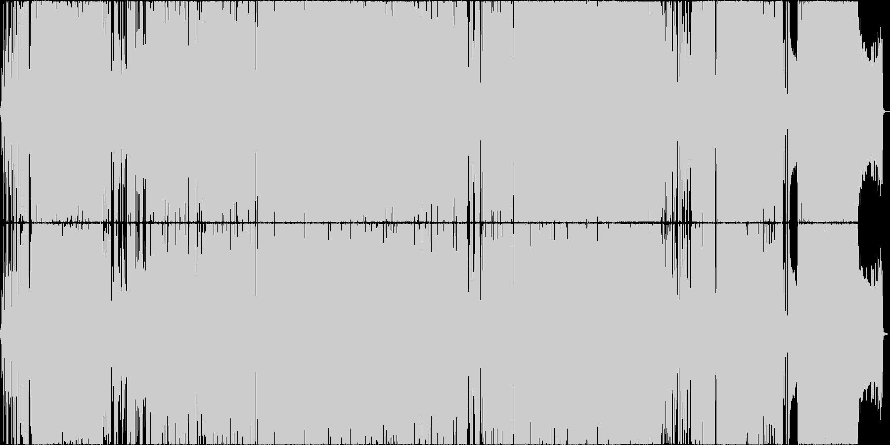 エモい男性ボーカル、疾走感、切ないの未再生の波形