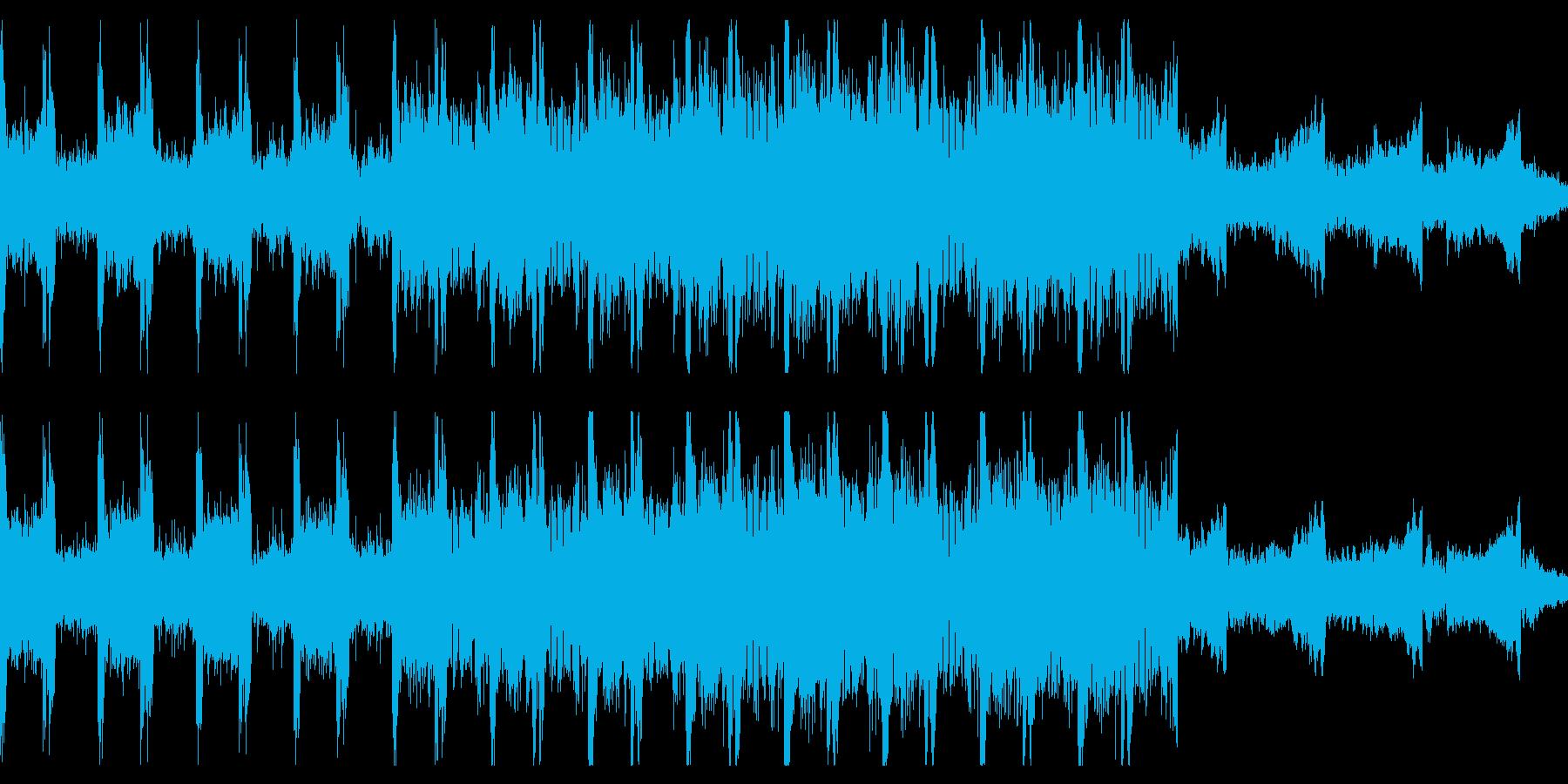 シリアスや不穏な雰囲気のループBGMの再生済みの波形