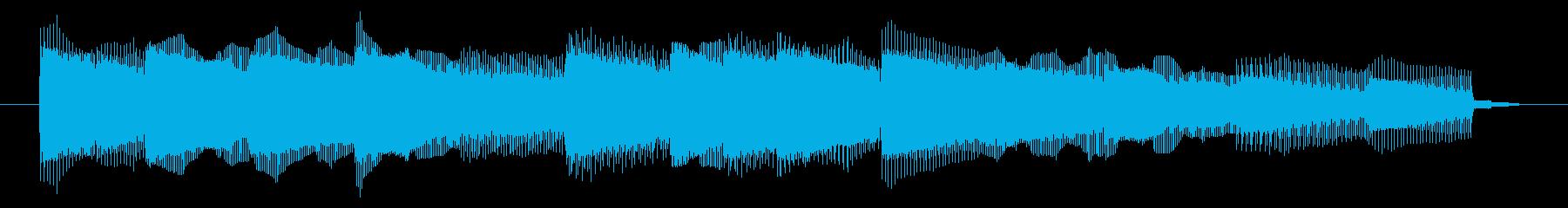 GB風シューティングのジングルの再生済みの波形