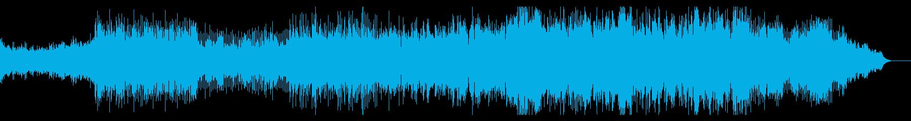疾走感のあるアップテンポなBGMの再生済みの波形