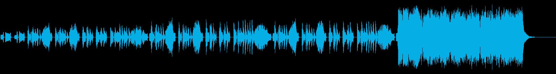 子供向けなゆったりほのぼのと可愛らしい曲の再生済みの波形