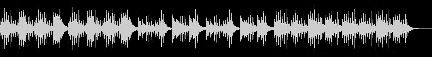 ゆったりとしたシンプルなピアノソロの未再生の波形