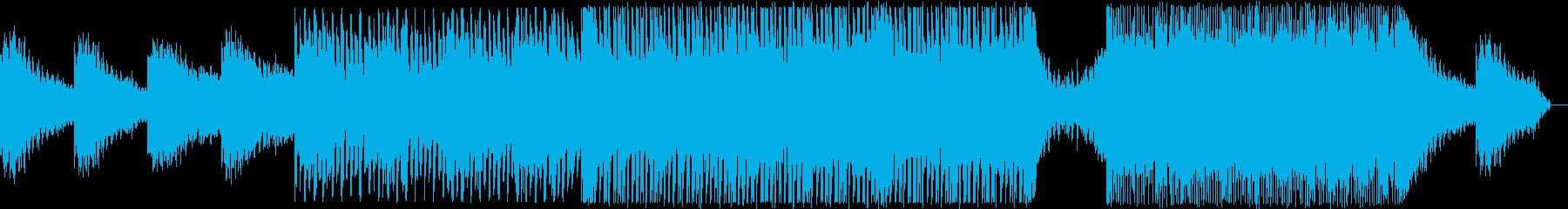 エレクトロニックなサウンドと暗いム...の再生済みの波形