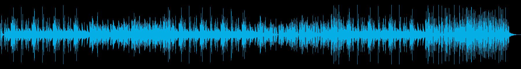 キュート、怪しい、チープなピアノとシンセの再生済みの波形