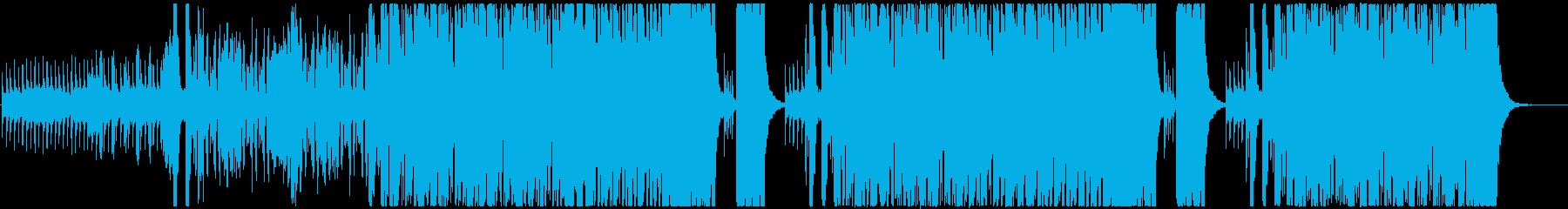 オーケストラ調のハロウィン風BGMの再生済みの波形