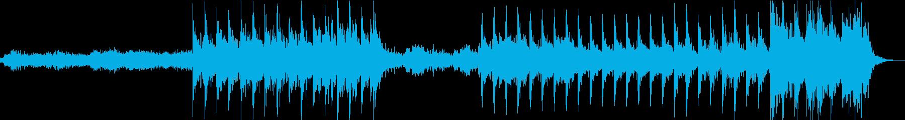 神秘的で力強いアンビエントBGMの再生済みの波形