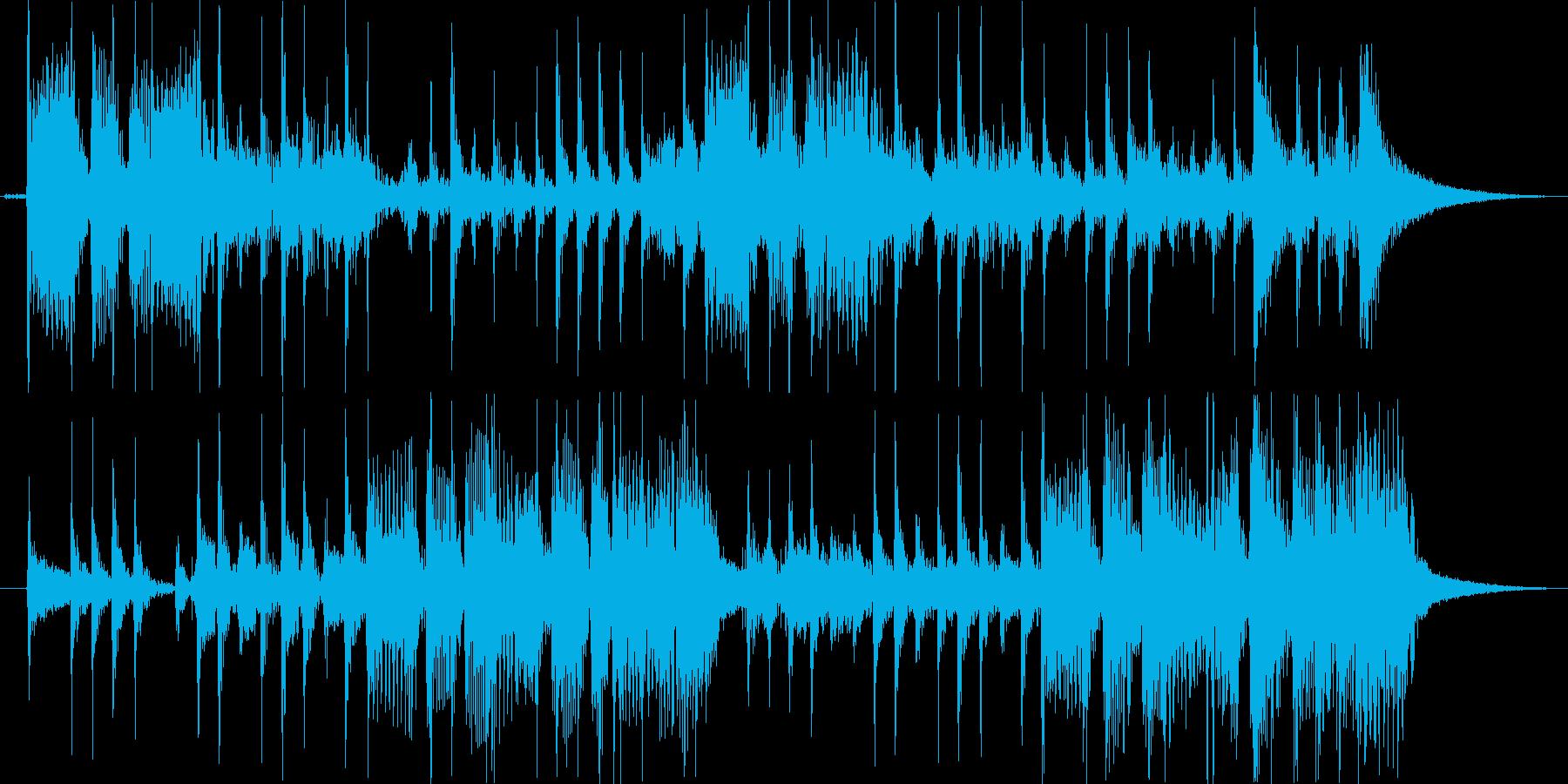 ベース スラップフレーズのジングルの再生済みの波形
