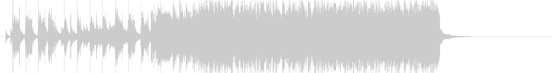 勢いのあるギターロック20秒の未再生の波形