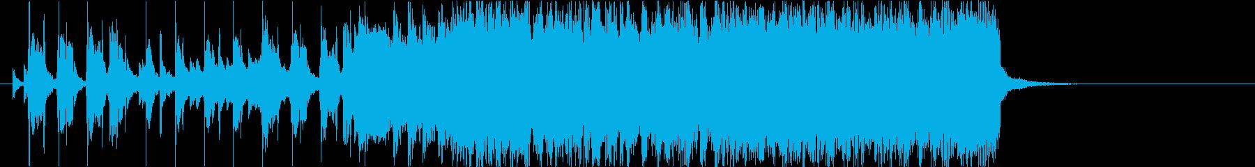 勢いのあるギターロック20秒の再生済みの波形