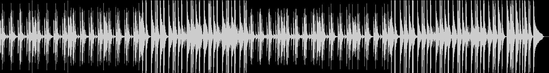 ミニマル音楽。不思議で幻想的なピアノ曲の未再生の波形