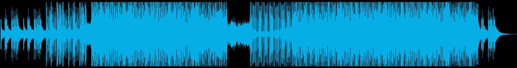 アップテンポで明るいシンセのメロディーの再生済みの波形