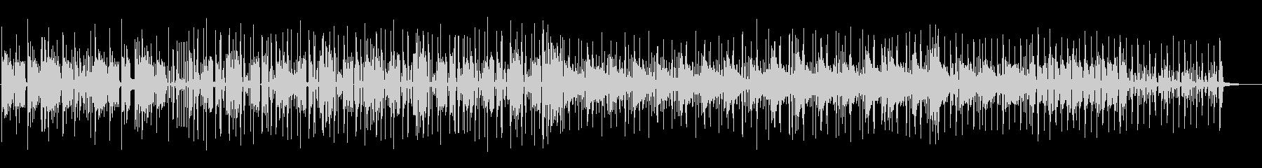 跳ねたリズムで軽やかなテクノポップの未再生の波形