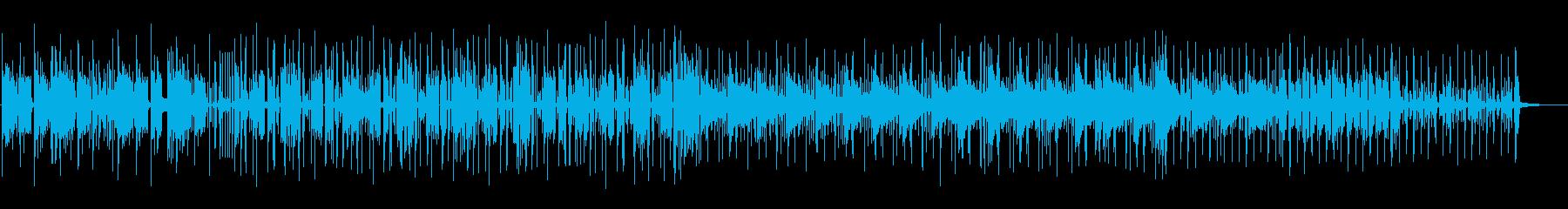 跳ねたリズムで軽やかなテクノポップの再生済みの波形