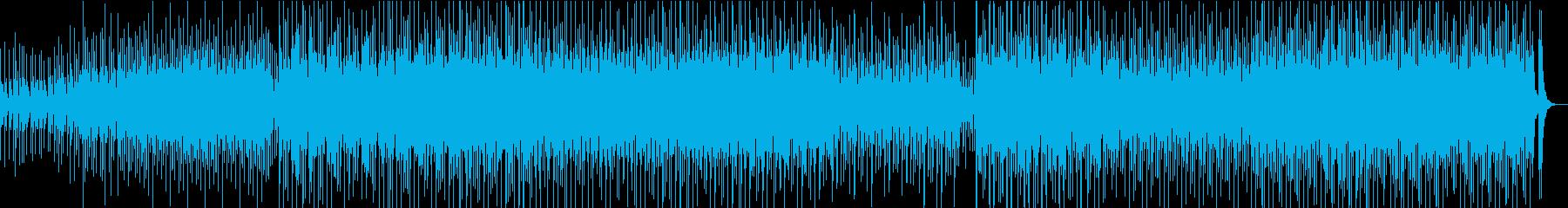 荒々しい三味線と和太鼓の再生済みの波形