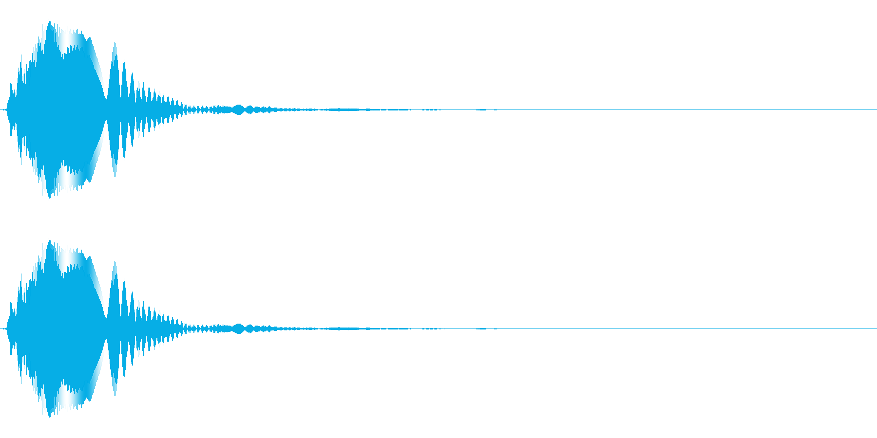 ボタン/クリック(チッとホゥンの合成音)の再生済みの波形
