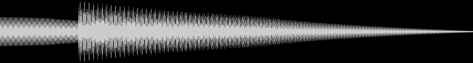 クイズなど回答音、正解音 (ピローン)の未再生の波形