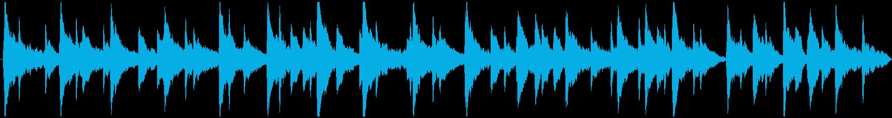 しっとりとした切ないピアノソロ楽曲の再生済みの波形