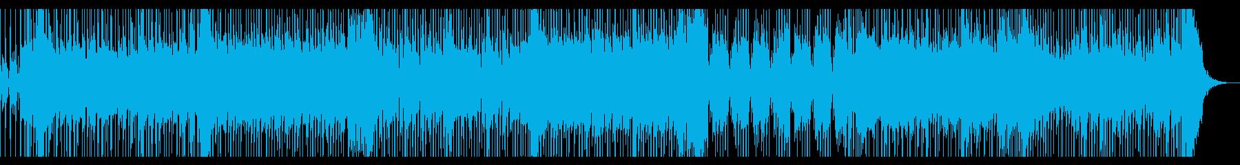 爽やかでワクワクする感じのポップロック曲の再生済みの波形