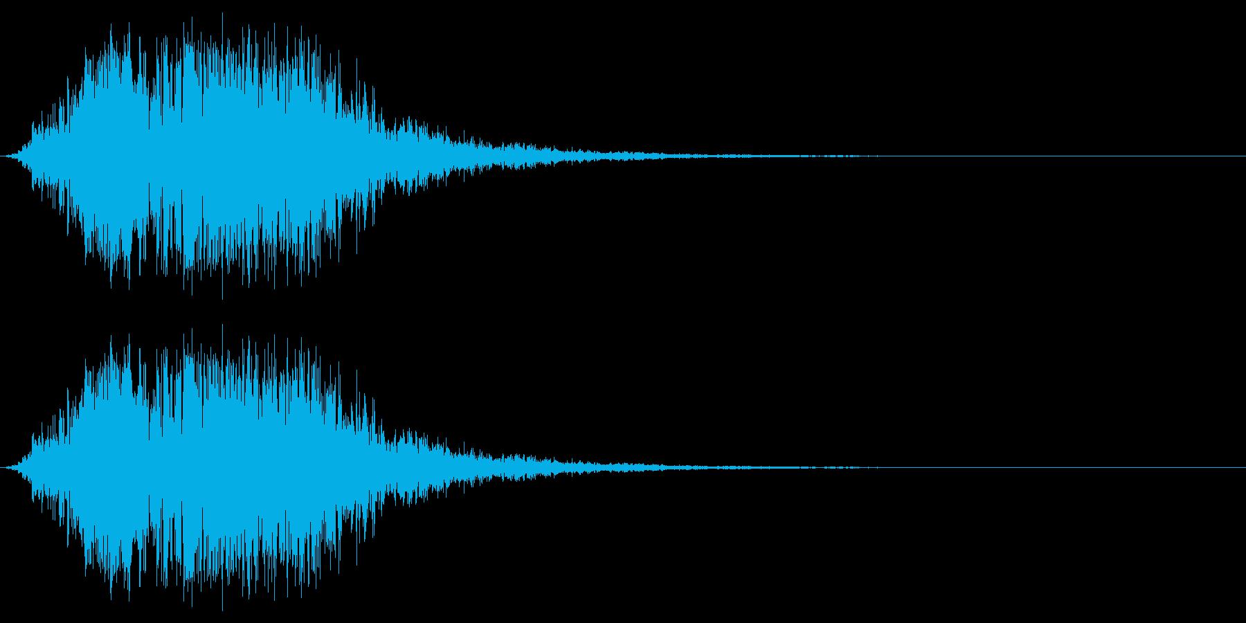 触手のイメージ(ボワゥシュシュ……)の再生済みの波形