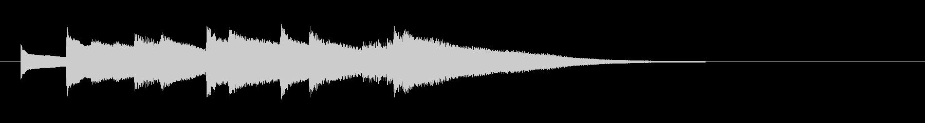 オルゴールのサウンドロゴ(短調、寂しい)の未再生の波形