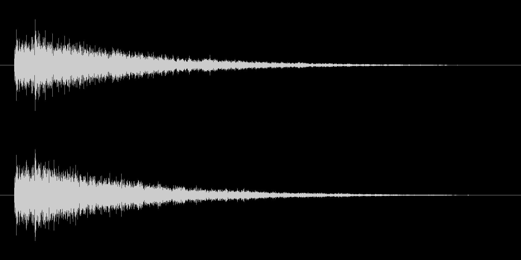 魔法発動(ファーン)の未再生の波形