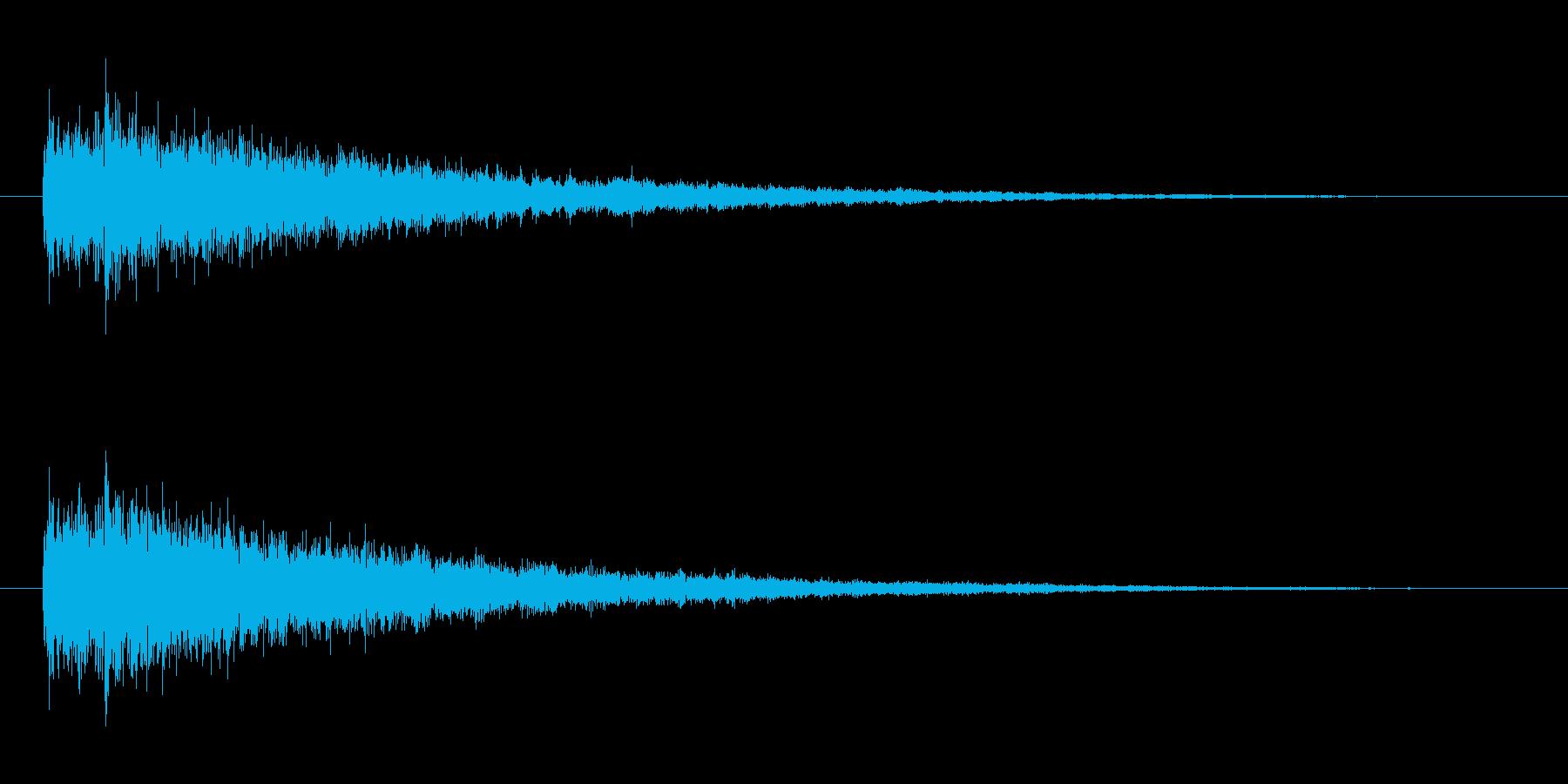 魔法発動(ファーン)の再生済みの波形
