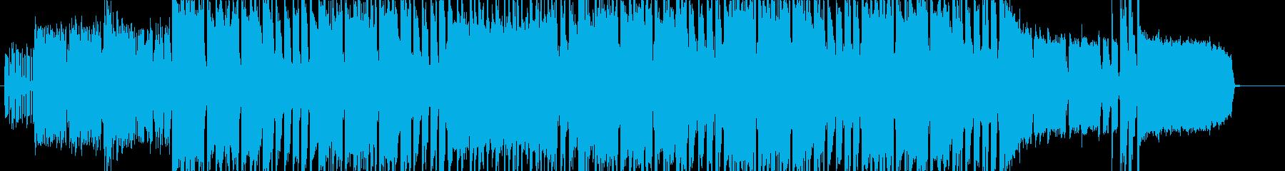 【生演奏】熱い戦闘シーンのロックBGMの再生済みの波形