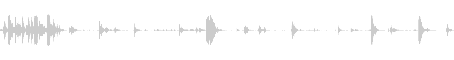 金属くず音の未再生の波形