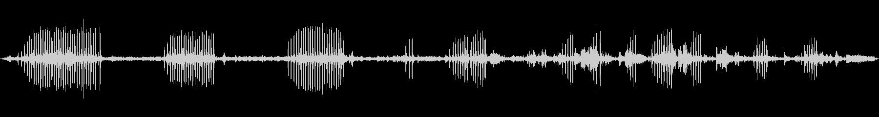環境音 川の夜明けの鳥を閉じる02の未再生の波形