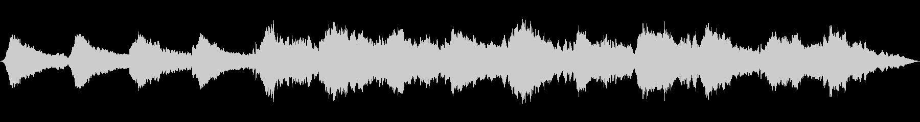 波の音を取り入れたヒーリング音楽の未再生の波形