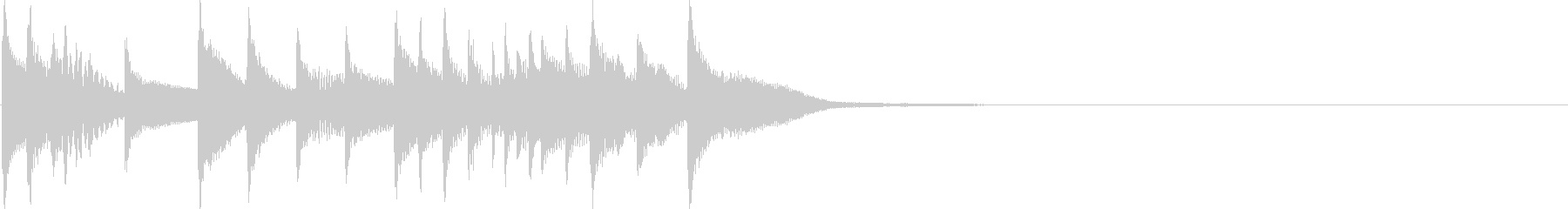 マリンバとピアノのジングルの未再生の波形