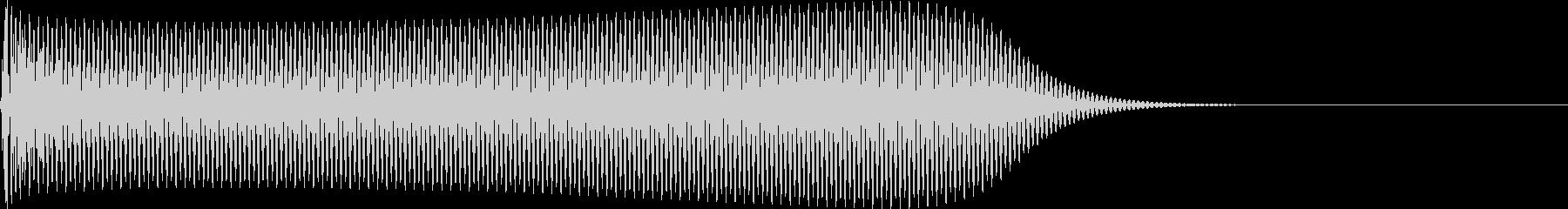 選択音 決定音 シンプル A07の未再生の波形